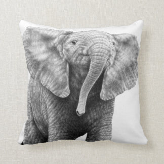 ベビー象のアメリカ人のMoJoの枕 クッション