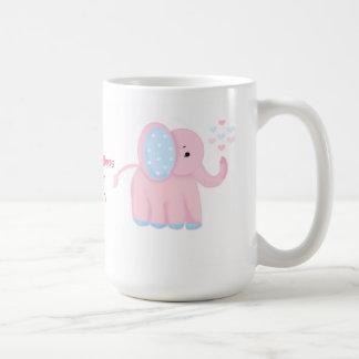 ベビー象の新生児のお祝い コーヒーマグカップ