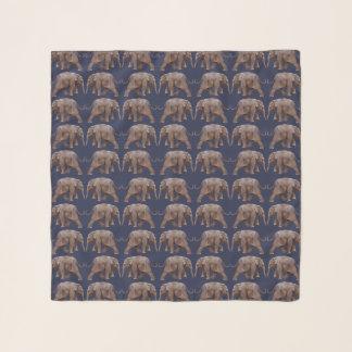 ベビー象の逆上の軽くて柔らかいスカーフ(海軍) スカーフ