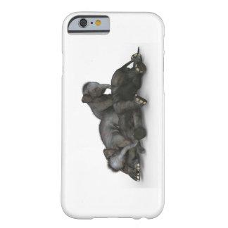 ベビー象のiPhone 6/6sは、やっとそこに灰色を包装します Barely There iPhone 6 ケース
