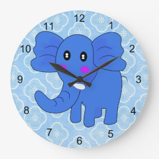 ベビー象 ラージ壁時計