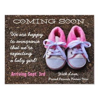 ベビー靴|の妊娠の発表をすぐに来ること カード
