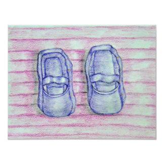 ベビー靴 10.8 X 14 インビテーションカード