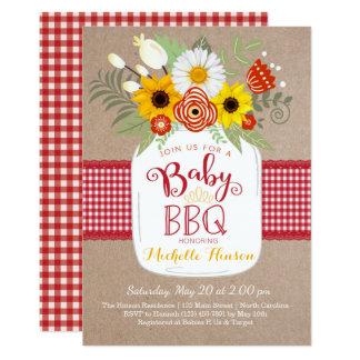 ベビーBBQのベビーシャワーの招待状、BabyQの招待 カード