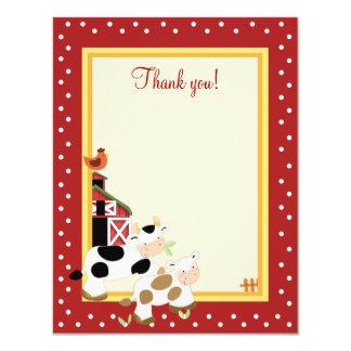 ベビーMOO牛(赤い) 4x5平たい箱はノート感謝していしています カード