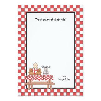 ベビーQのシャワーはノートの文房具感謝していしています カード