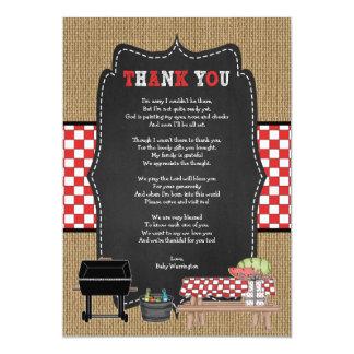 ベビーQは詩/BBQのベビーシャワーが付いているノート感謝していしています カード
