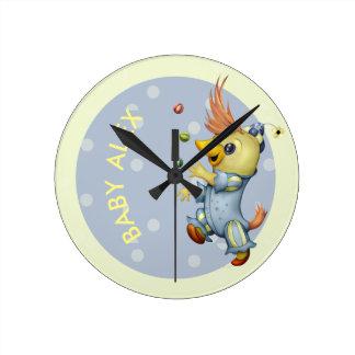 ベビーRIUSの円形の時計媒体 ラウンド壁時計