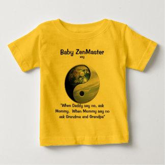 ベビーZenMasterは言います… (それを個人化して下さい!) ベビーTシャツ