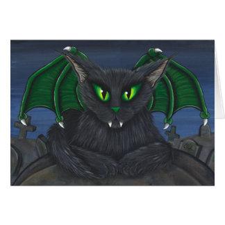 ベラの吸血鬼猫のゴシック様式ファンタジーの芸術カード カード
