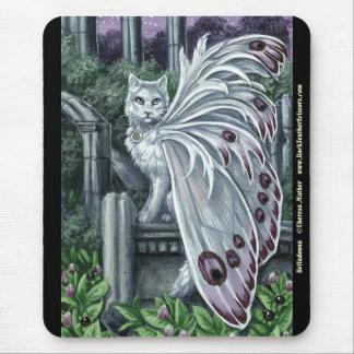 ベラドンナ白い妖精猫のマウスパッド マウスパッド