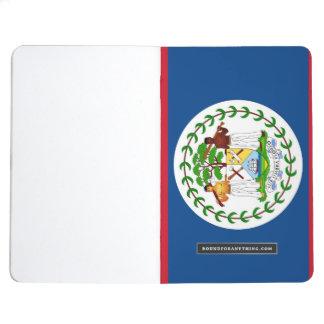 ベリセの旗が付いている愛国心が強いジャーナル ポケットジャーナル