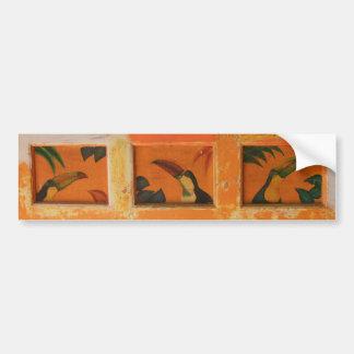 ベリセの色彩の鮮やかなtoucans バンパーステッカー
