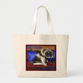 ベリーダンスのパグのバッグ ラージトートバッグ