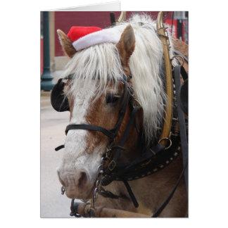 ベルギーのばん馬のクリスマスの挨拶 カード