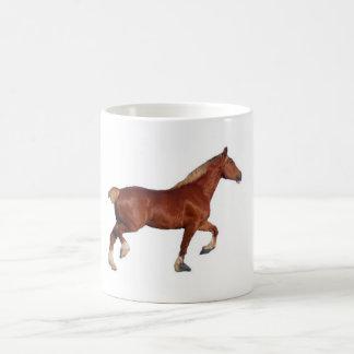 ベルギーのばん馬-カンディー コーヒーマグカップ