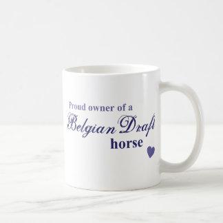ベルギーのばん馬 コーヒーマグカップ