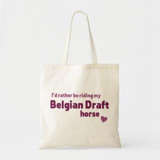 ベルギーのばん馬 トートバッグ