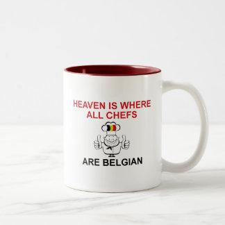 ベルギーのシェフ ツートーンマグカップ