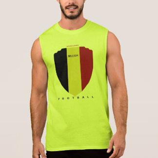 ベルギーのフットボール 袖なしシャツ