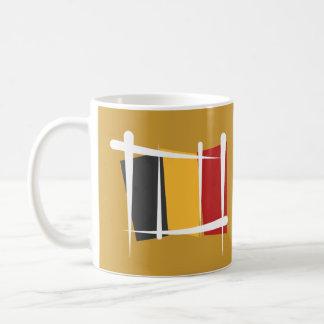 ベルギーのブラシの旗 コーヒーマグカップ