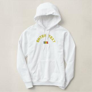 ベルギーのプルオーバーのフード付きスウェットシャツ-ベルギーのカスタムの文字 刺繍入りパーカ