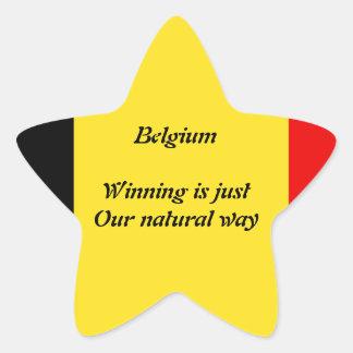 ベルギーの勝者 星シール