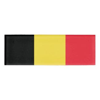 ベルギーの名札の旗 名札