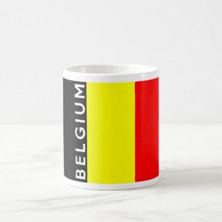 ベルギーの国旗の文字の名前 コーヒーマグカップ