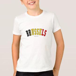 ベルギーの国旗色のブリュッセル Tシャツ