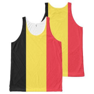 ベルギーの国旗 オールオーバープリントタンクトップ