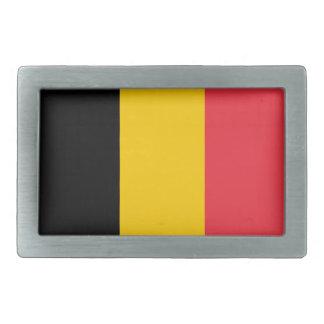 ベルギーの国旗 長方形ベルトバックル