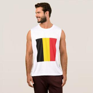 ベルギーの抽象的な旗、ベルギー人はワイシャツを着色します タンクトップ