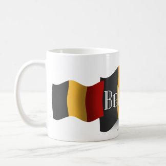 ベルギーの振る旗 コーヒーマグカップ