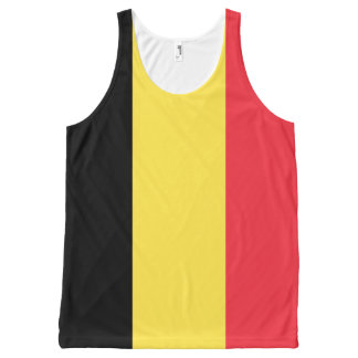 ベルギーの旗のタンクトップ オールオーバープリントタンクトップ