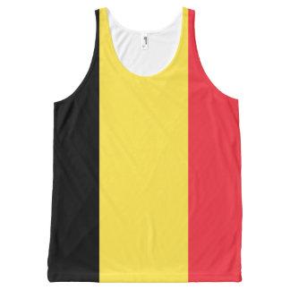 ベルギーの旗のデザイン オールオーバープリントタンクトップ