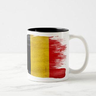 ベルギーの旗のマグ ツートーンマグカップ