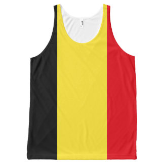 ベルギーの旗 オールオーバープリントタンクトップ