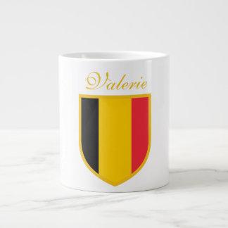 ベルギーの旗 ジャンボコーヒーマグカップ