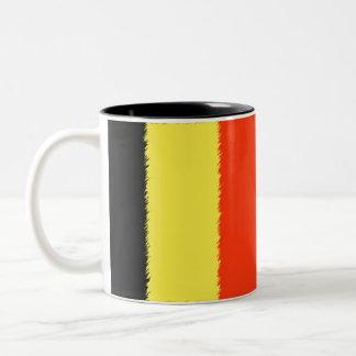 ベルギーの旗 ツートーンマグカップ