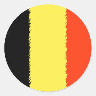ベルギーの旗 ラウンドシール