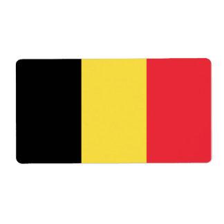 ベルギーの旗 ラベル