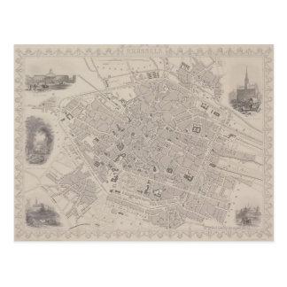 ベルギーの旧式な地図 ポストカード