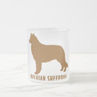 ベルギーの牧羊犬 フロストグラスマグカップ