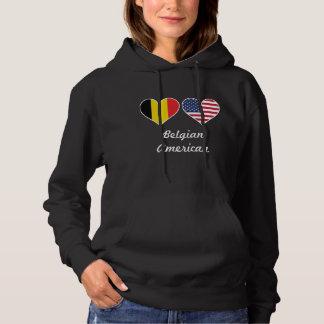 ベルギーの米国旗のハート パーカ