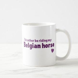 ベルギーの馬 コーヒーマグカップ