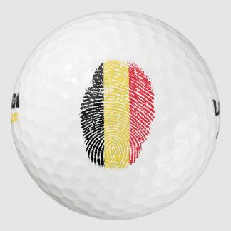 ベルギーのtouchの指紋の旗 ゴルフボール