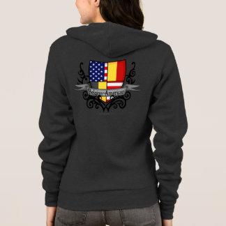 ベルギーアメリカの盾の旗 パーカ
