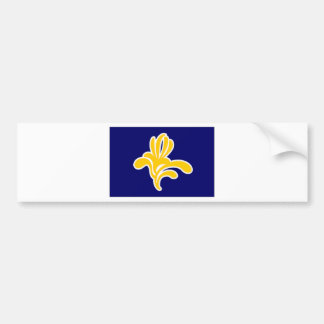 ベルギーブリュッセルの地域の旗 バンパーステッカー