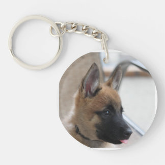 ベルギー人のMalinoisの子犬Keychain キーホルダー